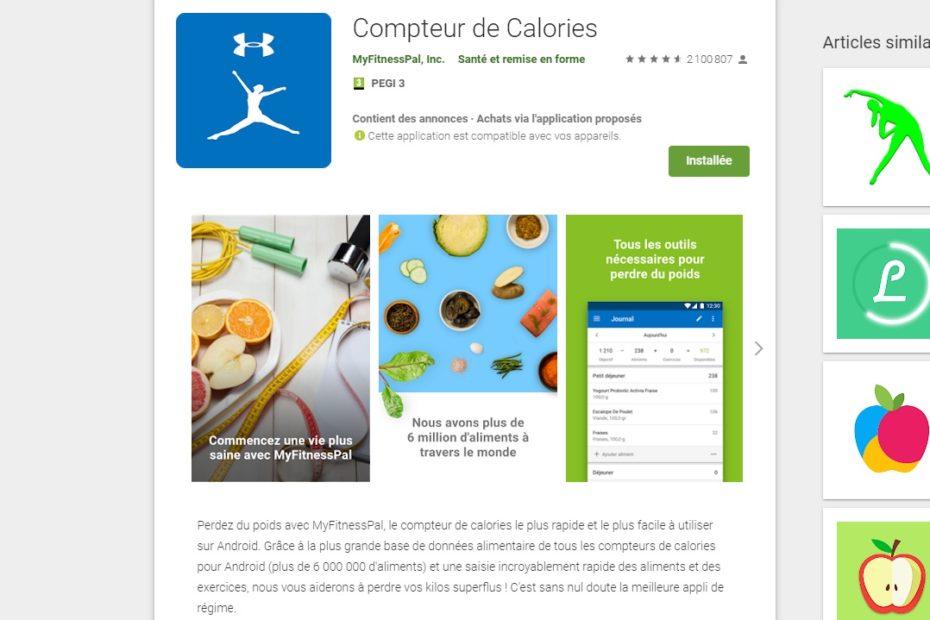Maigrissez grace a votre smartphone avec compteur de calories