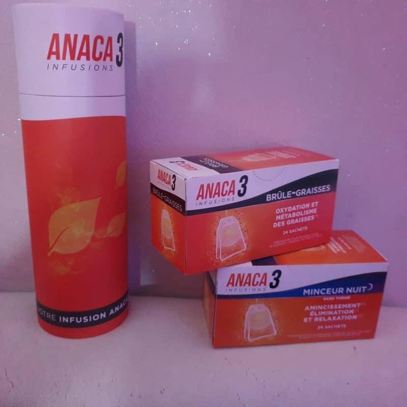 Anaca3 : Les infusions minceur nuit, brûle graisses & la bouteille infusion